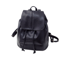 GUBINTU 2017 New Fashion Leather Drawstring Satchel Shoulder Backpack Newest Vintage Rucksack Soft PU Leather Bags Travel School