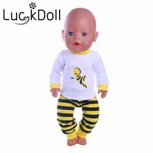 3 New arrive pajamas  Fit 43cm New Baby Born Zapf  Best gift for children free shipping