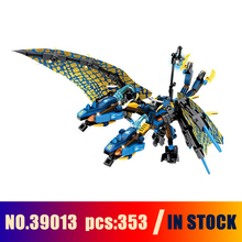 Models Building Toy Ice Flame DarkSteel Dragon 39013 353pcs Building Blocks Compatible Lego Ninjago Toys & Hobbies