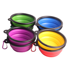 Dog Bowl Foldable Silica Gel 7 Colors Water Bottle Cat Feeder for Pet Dog food Free Size Dog Accessories Pet Supplies