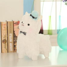 35cm Alpacasso Mud Horse 4 Styles Standing Topper Hat Alpaca Plush Toy Lovely Stuffed Animal Sheep Kids Doll Birthday Gift