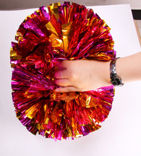 1pcs  Cheerleading Pom Poms Aerobics Show Dance Hand Flowers Cheerleader Pompoms for Football Basketball Match Pompon