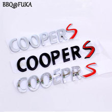 BBQ@FUKA New 3 Color Available 3D Metal Alloy COOPER S Back Car Emblem Badge Car Sticker Fit For MINI Cooper Car styling Covers