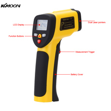 Dual Laser Non-contact IR Infrared Thermometer Digital Temperature Tester Pyrometer W/ LCD Backlight Range -50~1050( -58~1922F)