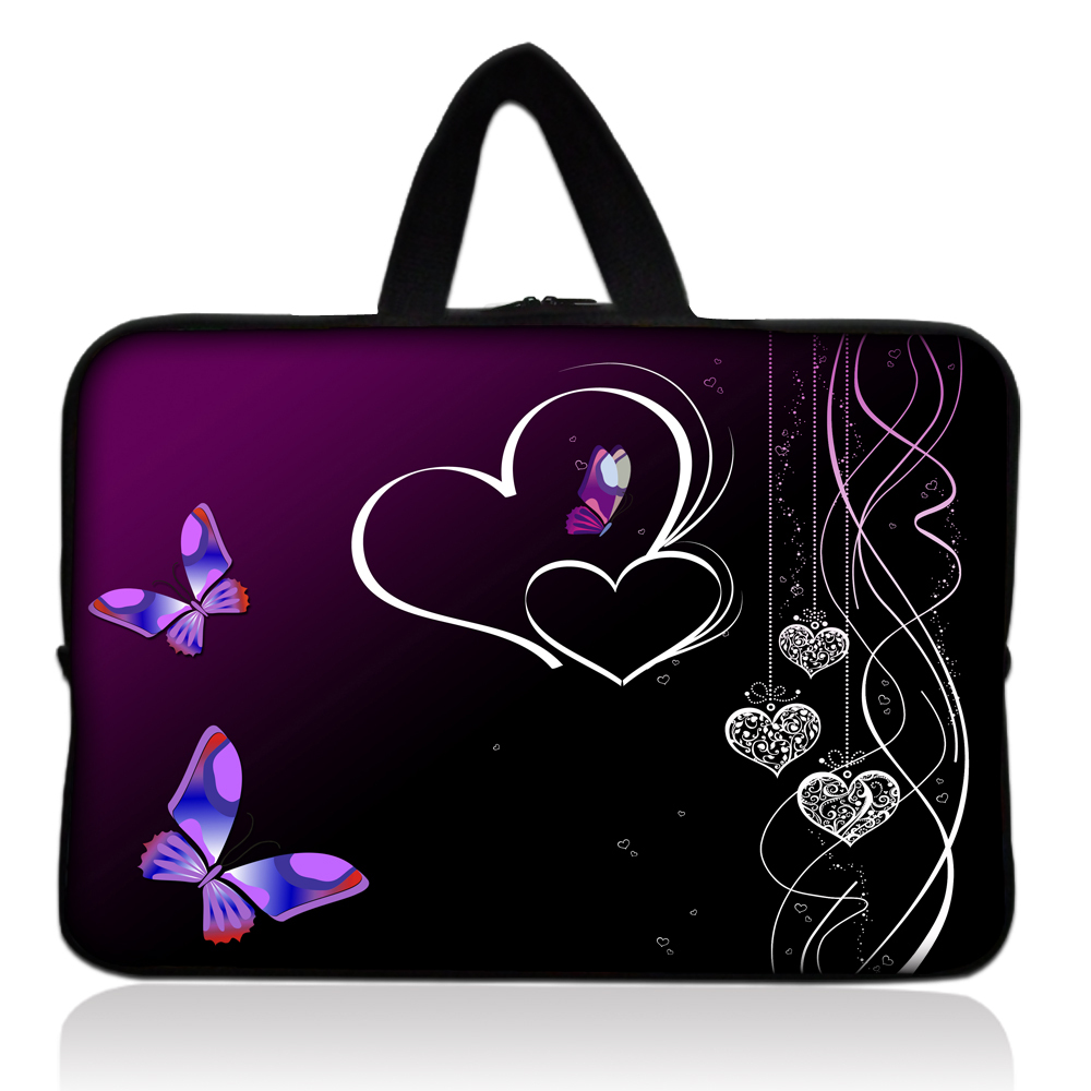 "Hot Design Purple Sleeve Case Bag Cover +Handle For 7"" inch Barnes & Noble NOOK Tablet PC(China (Mainland))"