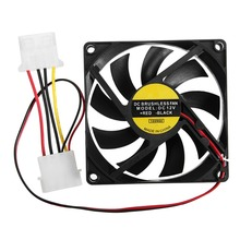 Hot Sale 1PC 9 Leaf 4 Pin 80mm*80mm*15mm CPU Cooler Fan DC 12V Cooler Case Fan Heatsink Cooling Radiator for Computer PC CPU(China)