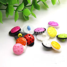 A24 Children's hand-colored ladybug buttons wholesale handmade animal buckle button flowers diy craft materials decorative