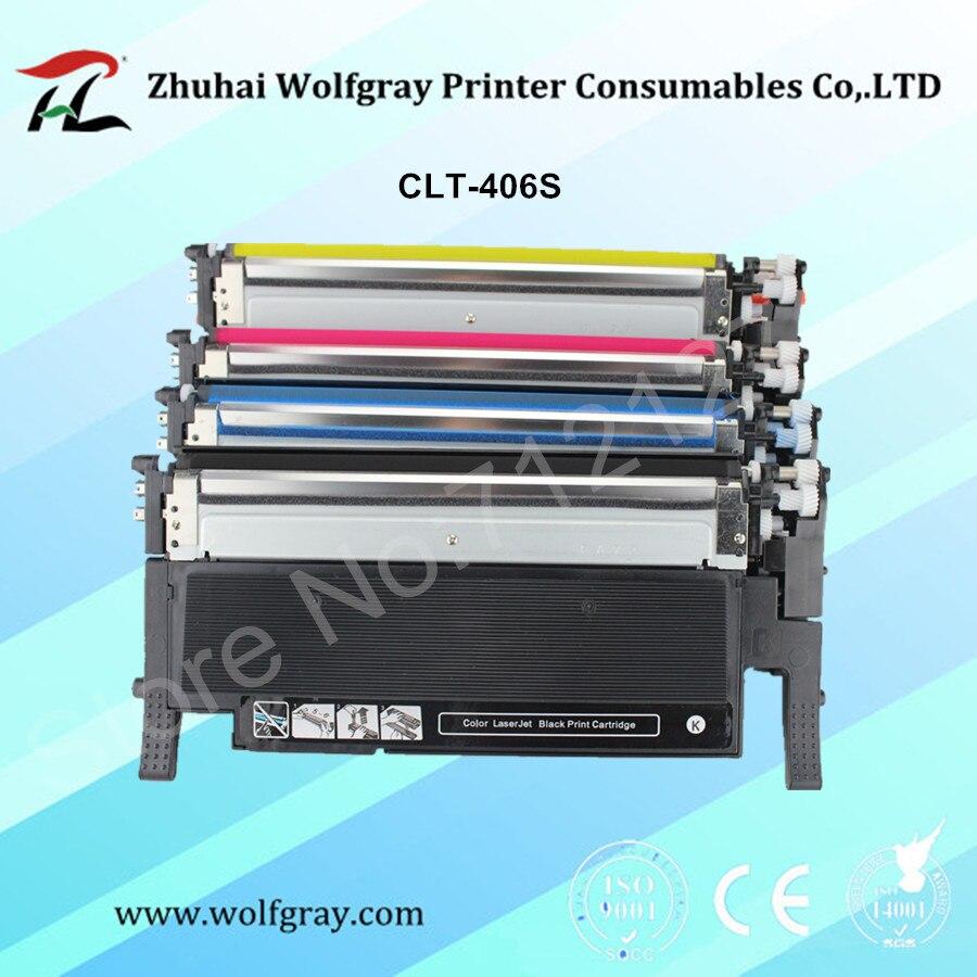 Toner cartridge for samsung k406s CLT-406S CLT-K406S CLT-M406S CLT-Y406S CLT-C406S C360 clp-365w 366W CLX-3305 3305W C460FW<br>