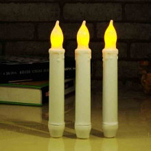 3pcs/lot Yellow Flickering LED Light Long Pole Candles Wedding Party Home Xmas Decor Smokeless Flameless Candle Lamp