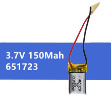 1 pc 3.7V 150mah li-po battery 651723 for Syma S107 S107G S107-19 Skytech M3 Replacement Spare Parts for RC Helicopter