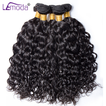 Lemoda Water Wave Bundles Brazilian Hair Weave Bundles 1 pc Can Buy 3 / 4 Bundle Human Hair Bundles non remy Hair extensions(China)
