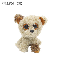 "SELLWORLDER WILD ANIMALS Big Eyes 6"" Plush Kawaii Teddy Dog Animal Toys(China)"