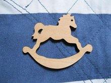 Brand New  Fast shipping accept mix buying rockinghorse wood brooch