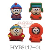 4pcs/lot South Park Cartoon Figures Blackboard Fridge magnets baby toys/gifts Party Favor kitchen Memo School Supplies