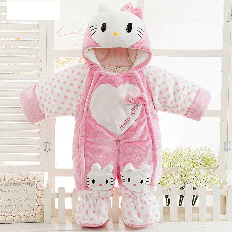 New 2017 Autumn and winter Baby Kids Set flannel and cotton puls Kitty Cartoon suit Pant Twinset Long Sleeve baby Clothing Sets<br><br>Aliexpress