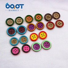 1612301 , Button buttons natural coconut candy-colored shirt shirt color green button sewing supplies , DIY handmade materials