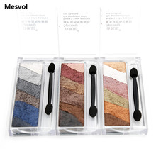 Eye Shadow Eyeshadow Palette Shimmer Baked Powder 1pcs 6-color Makeup suite Full Size Net 8.2g BP6710(China)
