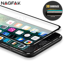 Buy NAGFAK 3D Curved Anti-Scratch Tempered Glass iPhone X 10 Screen Protector iPhone 8 7 6 6s Plus 5 5S SE Protective Glass for $1.40 in AliExpress store