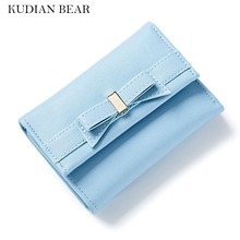 KUDIAN BEAR Brand Short Women Wallet and Purse Leather Retro Female Clutch Designer Card Holder Best Gift--BIP019 PM49