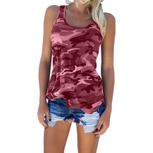 b6a0900bc5b Sexy Sleeveless Womens Camouflage Summer Vest Top Plus Size 2018 Casual  Strapless Ladies Loose Shirt Camisole