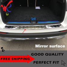 WK Brand 304 Stainless Steel Rear Bumper Protector Plate Cover Trim for Mercedes Benz GLC Class X205 Car Accessories Styling
