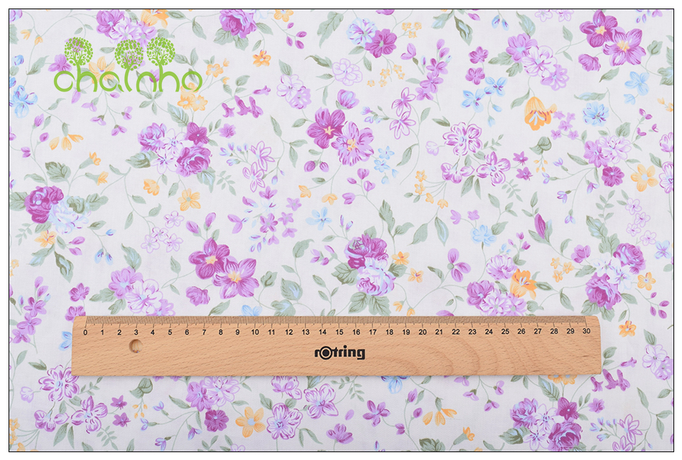 Chainho Twill Cotton Fabric,Patchwork Floral Tissue Cloth,DIY Sewing Quilting Fat Quarters Material For Baby&Children,5pcs/lot 14