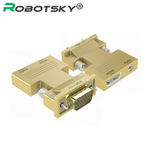 HDMI Female to VGA Male Video Converter with Audio Adapter 1080P Signal HDMI to VGA Audio Transmission Connector for HDTV