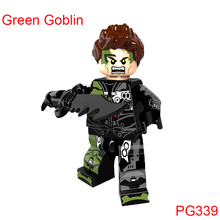 Single Sale Building Brick Green Goblin Action Figure Super Heroes Star Wars Mini Doll Christmas Toys For Children Hobbies Pg339(China)