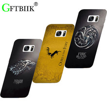 Cartoon Case For Samsung Galaxy S7 G9300 G930A G930 G930F 5.1 Hard Plastic Case Fashion Printed Football Cover Game of Thrones 7