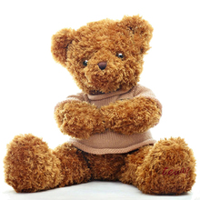 Soft Teddy Bear Stuffed Toy Animals Plush Doll Bear Brown Peluches Grandes Wedding Decoration Bonecas Toys For Girls 50G0487(China)