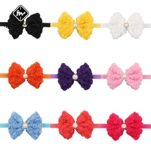 Norvin Girl Hair Accessories Bow kids Headband Double Embroidered For  Elastic Hairbands Flower kids Headbands 12pcs/lot Top
