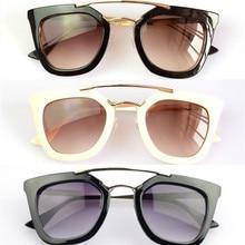 2281a39e86 Gianna Jun Black Classic Big Square Frame Cat Eye Glasses Hot New Vintage  Fashion Summer Cool