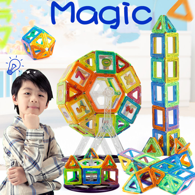 New Mini Magnet Designer Construction Set Model &amp; Building Toy Plastic Magnetic Blocks Educational Toys For Kids Christmas Gift<br><br>Aliexpress