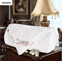 VESCOVO white summer comforter silk quilt pure mulberry silk luxury jacquard blanket/silk filling