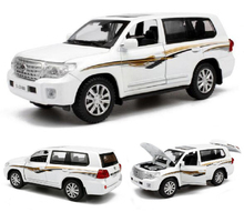 High Simulation 1:32 Car Model Toyota LAND CRUISER Vehicles Alloy Car Model Toys Diecast With Pull Back Sound Light For Children(China)
