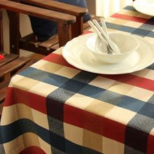 Wholesale 100% Cotton Table Cloth English Style Plaid  Print Multifunctional Tablecloths Coffee Tea Home Kitchen Table Covers