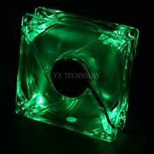 8025 GDT Green Red Bule Four color LED PC Computer Case Brushless Cooling Fan 80mm 8080x25mm 8025S DC 12V 4Pin Cooler