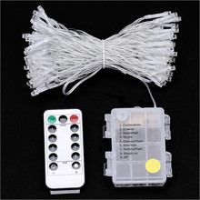 10M Battery LED String Light 8 Functions With Remote Control 100 LEDs Indoor Fairy Lights Christmas Party Wedding Decoration