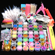 New 1 Set Glitter Nail Art Rhinestones 3D Design Mix Colors Acrylic Powder Nail Tips Gems Decoration DIY Nail Accessories