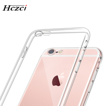 2017 New TPU Phone case for Apple iPhone 6s 6 7 Plus 5s 5 SE High quality HD Transparent Silicone soft shell With Dust plug