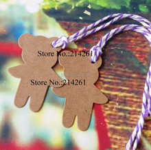 2016 New Kraft Cute Hang Tag For gift box Handmade ART 1lot=500 Tags Garment Tag