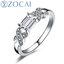 ZOCAI New Arrival 100% natural diamond ring 0.60 ct certified diamond 18K white gold ring engagement ring fine jewelry W05469