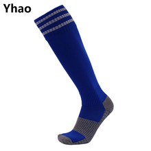 Yhao Outdoor terry towel sweat comfortable soft colorful football soccer socks male female  sports running traning free shipping