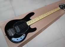 Sting Ray Black Electric Bass Guitar with 4 Strings,Black Hardwares,Offer Customized(China)