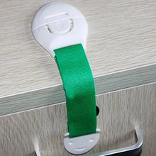 Children Baby Safety Locks Colorful Adjustable Security Door Cabinet Drawer Latch Locks Infant Protection Lock Random Delivery(China)