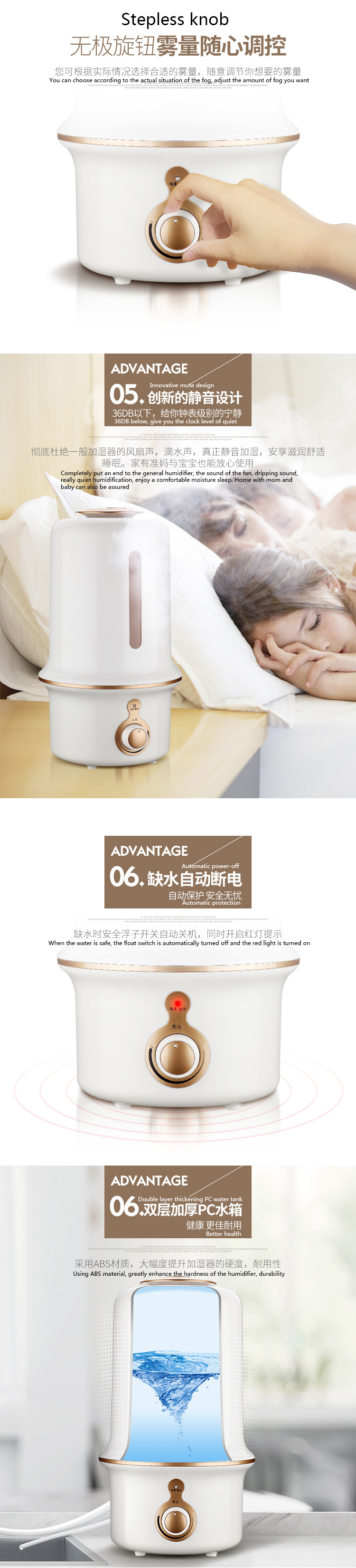 ITAS3317 New Outlets Direct Humidifier Home Office Mini Silent Mini Perfume Machine
