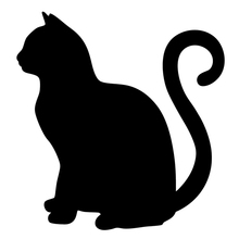 15*15cm Black Alley Cat Auto Door JDM Vinyl Decal Die Cut Sticker Cool Graphic Truck Window Car Rear