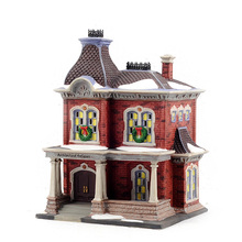 Christmas City Series Antique Shop USA Hand-painted Ceramic Night Lamp House Decoration Gifts