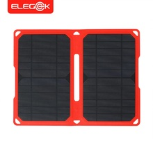 ELEGEEK 14W Super Slim ETFE Laminated Folding Solar Panel Charger Waterproof IPX5 Portable Solar Panel for IOS and Android(China)