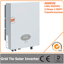 6000W 140V-800VDC Three Phase Transformerless Solar Grid Tie Inverter with CE RoHS Approvals